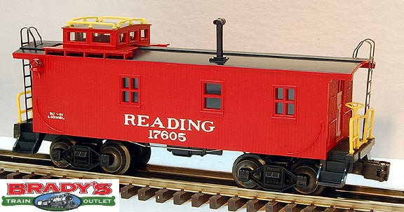 Lionel 6-17605 Reading Wood Sided Caboose Std. O
