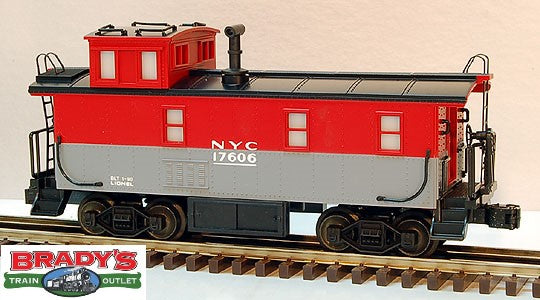 Lionel 6-17606 New York Central Steel Sided Caboose with Smoke and End Of Train Warning Light