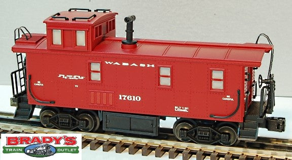 Lionel 6-17610 Wabash Square Window Caboose w/Smokestack and Flashing Rear Warning Light #17610