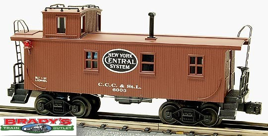 Lionel 6-17611 New York Central NYC Wood Side Illuminated Caboose