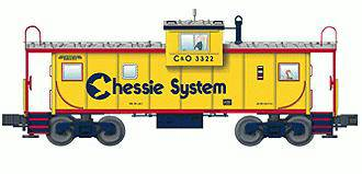 Lionel 6-17639 Chessie System Extended Vision Caboose