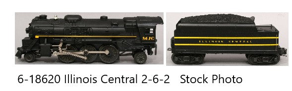 LIONEL 6-18620 Illinois Central 2-6-2 Steam Locomotive