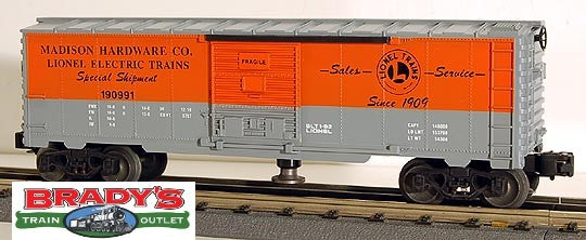 Lionel 6-19816 Madison Hardware Operating Boxcar