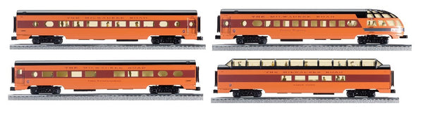 "K-Line 6-22272 Milwaukee Road 18"" Aluminum Passenger Car Set"