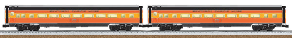 "Lionel 6-25416 Southern Pacific SP 18"" Aluminum Streamlined Passenger Car 2-Pack ""Daylight"""