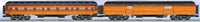 Lionel 6-25515 Milwaukee Road Olympian Heavyweight Passenger Car 4 pack AND 6-25516 Milwaukee Road 2 Pack