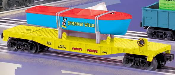 Lionel 6-26049 Disney Speedboat Willie Flatcar with Boat