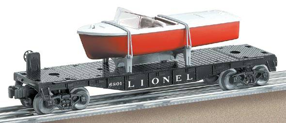 Lionel 6-26078 Lionel Lines Flat Car with Boat #6801 Boy's Line