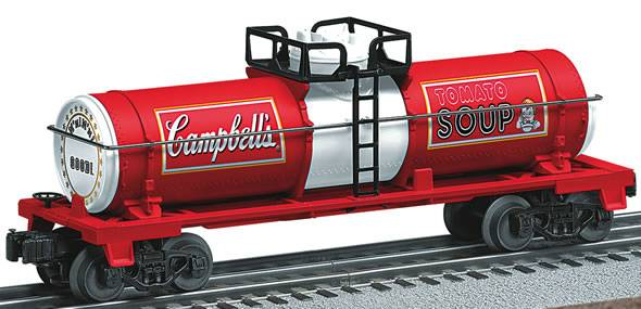 Lionel 6-26158 Campbell's Soup Single Dome Tank Car