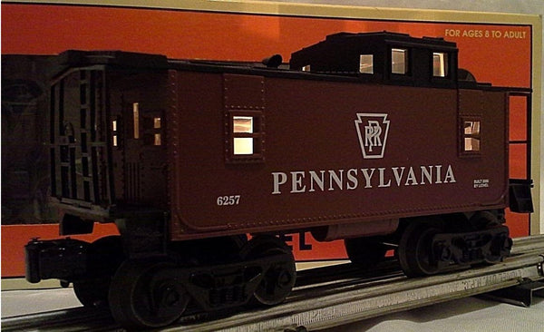 Lionel 6-26528 Pennsylvania PRR CBS Square Window Lighted Caboose #6257