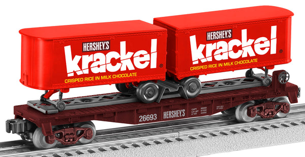 Lionel 6-26693 Hershey Krackel Candy bar Piggyback Flatcar with Trailer
