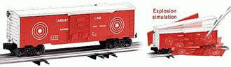 Lionel 6-26763 Exploding Boxcar with Targets on it