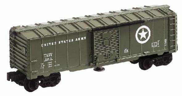 Lionel 6-26776 U.S. Army Operating Box Car with man inside