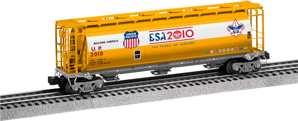 Lionel 6-27449 Union Pacific UP Boy Scouts of America BSA 3-Bay Cylindrical Hopper #2010