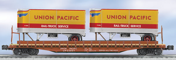 Lionel 6-27519 Union Pacific UP Flat car with Trailers #53007