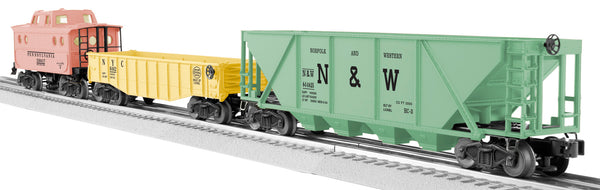 Lionel 6-27792 Archive Pastel Freight 3 Pack NYC Gondola Pennsylvania PRR Caboose Norfolk & Western NW Hopper