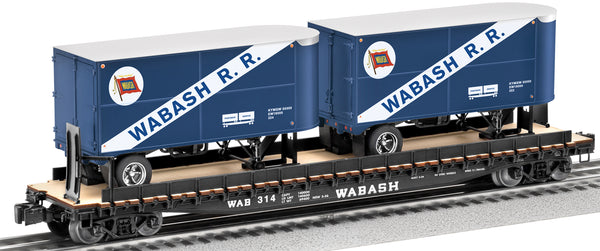 Lionel 6-27820 Wabash PS-4 Flatcar with Trailers #314