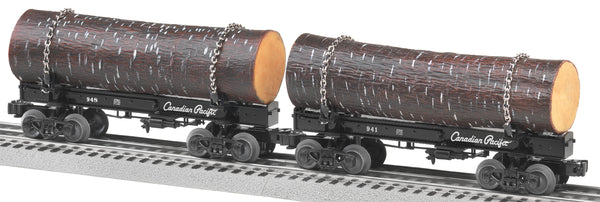 Lionel 6-27826 Canadian Pacific CP Skeleton Log Car 2 Pack
