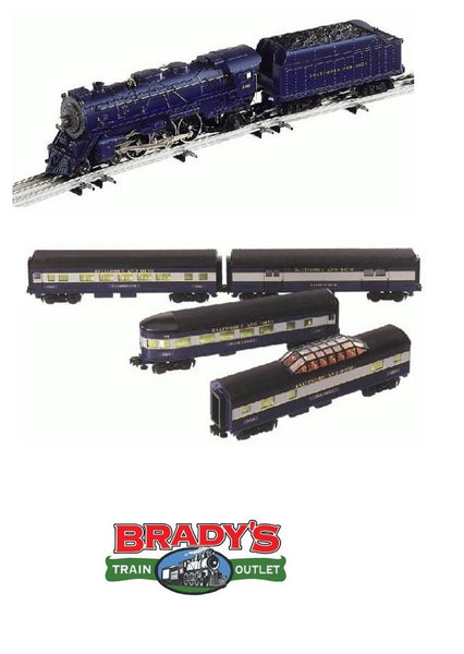 Lionel 6-28032 Baltimore & Ohio B&O Command 4-6-2 Steam Engine #5308 and 4 Pack Streamliner Passenger Car Set