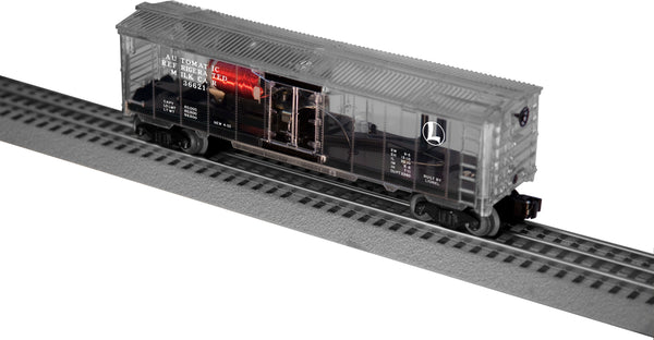 Lionel 6-29301 Transparent Clear Operating Milk Car with Platform