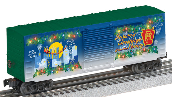 Lionel 6-29306 Pennsylvania Railroad PRR Lighted Holiday Boxcar 2011
