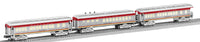 Lionel 6-30121 Santa Fe Baby Madison Passenger Car 3 car Set