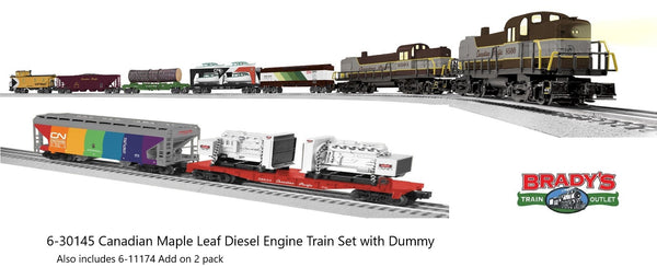 Lionel 6-30145 Canadian Pacific CP Canadian Maple Leaf Ready to Run Freight Set along with 6-11174 Add on freight