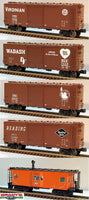 Lionel 6-31731 Trainmaster Rolling Stock 5-Car Set, Century Club II, Smoking Milwaukee Road Bay Window Caboose Virginian, Wabash, Jersey Central, Reading