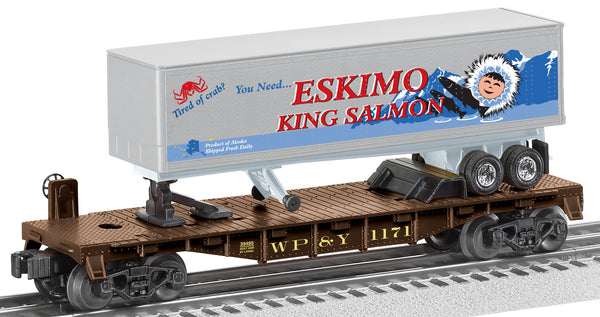 Lionel 6-39485 Flatcar with Tractor and Trailer Eskimo King Salmon