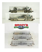 Lionel 6-38150 F-3 AA Clear CAB Platinum 100 Anniversary Diesel Engine Ghost Set and 6-29086 Ghost Madison 100th Anniversary Passenger Car set