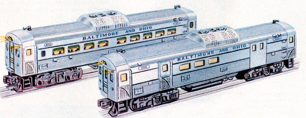 Lionel 6-38313 Baltimore & Ohio B&O Conventional Classic Budd RDC 2-Pack #400