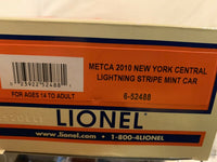 Lionel 6-52488 New York Central NYC Lightning Strip METCA 2010 Mint Car