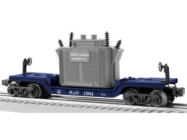 Lionel 6-81004 Baltimore & Ohio B&O Depressed Center Flatcar with Transformer #1004