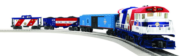 Lionel 6-82427 The Patriot Lionchief U36B Diesel Engine and Freight Set with Remote