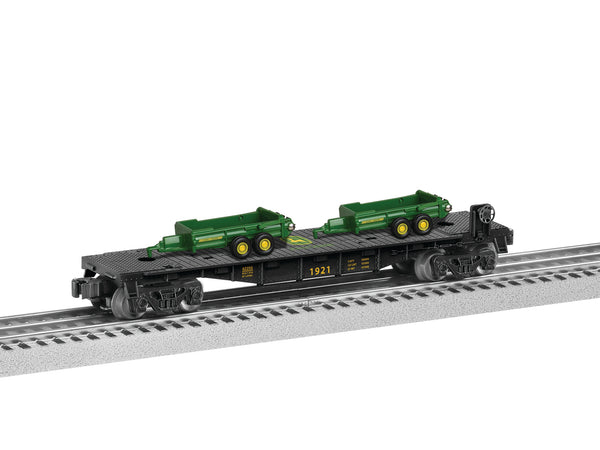 Lionel 6-83238 John Deere Flatcar with Load (2 removable spreaders)