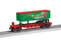 Lionel 6-83313 Reindeer Express Agency REA Flatcar with Long Trailer