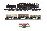 Lionel 6-84240 West Side Lumber 3 Truck Shay Built to Order Legacy Steam Locomotive #3 with 6-29424 Meadow River Lumber Skeleton Log Car 3 Pack
