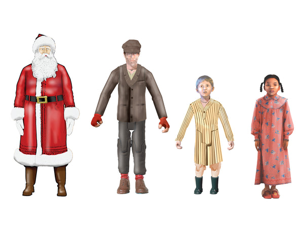 Lionel 6-14273 Polar Express Add On Figures Santa Clause, Billy, Hero Girl and the Hobo