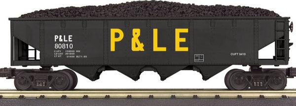MTH 30-7082 Pittsburgh & Lake Erie P&LE 4 Bay Hopper Car with Coal Load