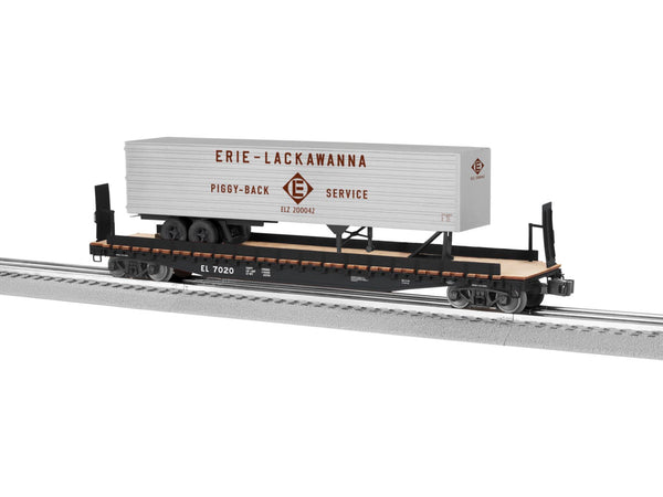 Lionel 6-82841 Erie Lackawanna PS-4 Flatcar w/ 40' Trailer
