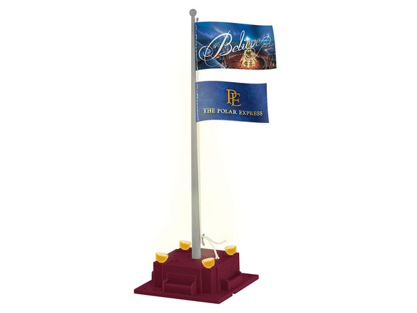 Lionel 6-85271 The Polar Express Illuminated Flag Pole Plug and Play