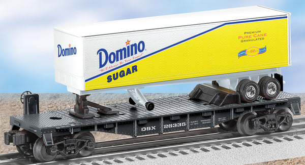 Lionel 6-26335 Domino Sugar Flat Car w/Trailer