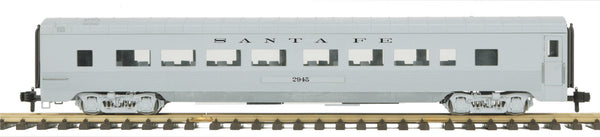 MTH 70-67031 Santa Fe Streamlined Passenger Coach (Ribbed) Car No. 2945 One Gauge