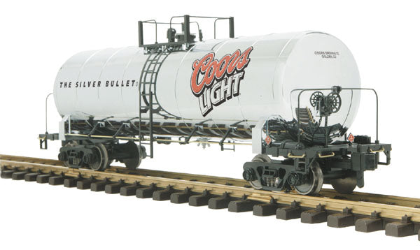 MTH 70-73027 Coors Light Unibody Tank Car  - G Gauge RailKing One Gauge