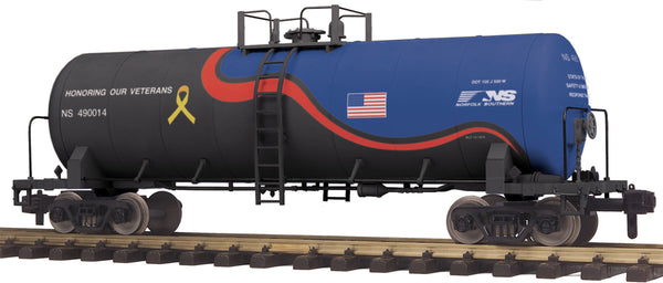 MTH 70-73053  Norfolk Southern NS (Veterans) Unibody Tank Car No.: 490114  G Gauge RailKing One Gauge