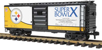 MTH 70-74073 Pittsburgh Steelers 40' Box Car Super Bowl 10 One Gauge