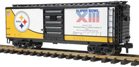 70-74074 Pittsburgh Steelers 40' Box Car - Super Bowl 13 One Gauge