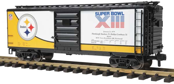 MTH 70-74074 Pittsburgh Steelers 40' Box Car - Super Bowl 13 One Gauge