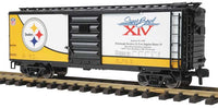 MTH 70-74075 Pittsburgh Steelers 40' Box Car -  Super Bowl 14 One Gauge