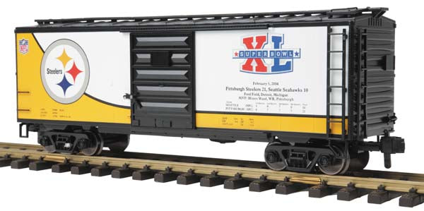 70-74076 Pittsburgh Steelers 40' Box Car -  Super Bowl XL (40) One Gauge